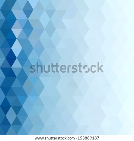 Abstract Blue Triangle Geometrical Background. Pattern of Geometric Shapes. Colorful Mosaic Banner. Vector Illustration - stock vector