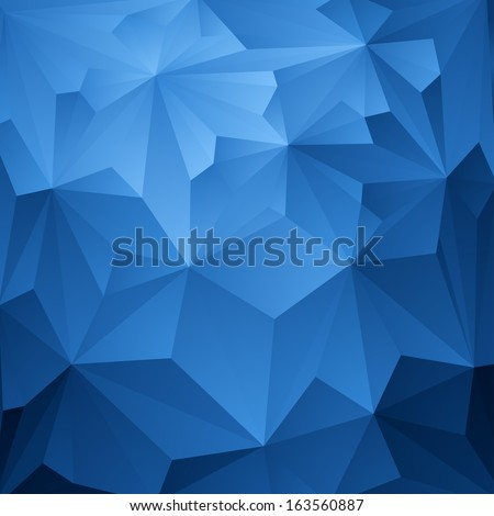 Abstract Blue Triangle Geometrical Background, Vector Illustration - stock vector
