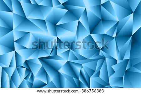 Abstract Blue Triangle Geometrical Background, Vector Illustration saveas EPS10. - stock vector