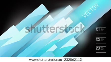Abstract blue vector composition for digital or printed brochure banner illustration - stock vector