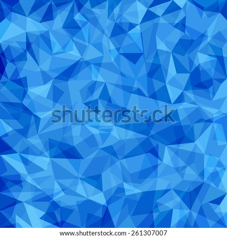Abstract blue vector mosaic pattern. Vector pattern with paper texture. Vector abstract background - stock vector