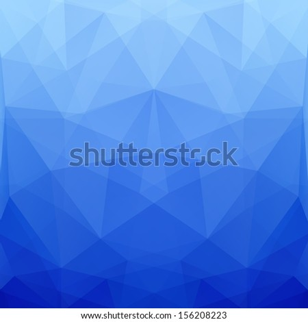 Abstract Blue Vector Polygonal Background for Design - stock vector