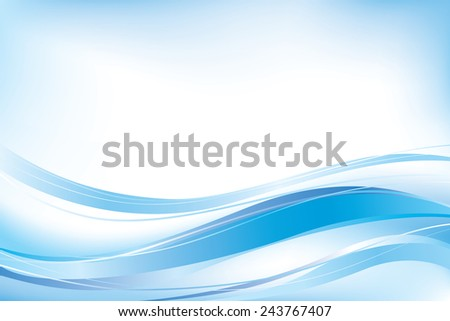 Abstract blue waves background. - stock vector