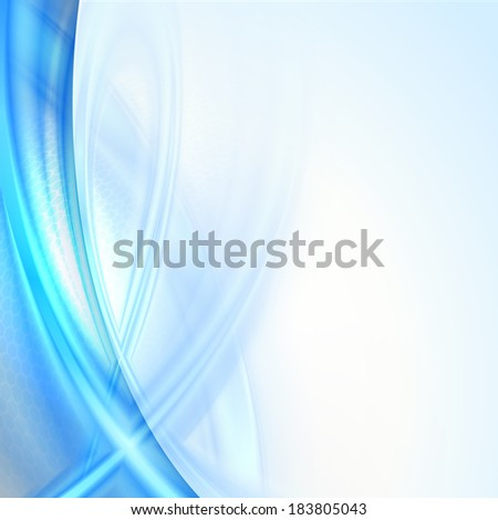 Abstract blue waving background - stock vector