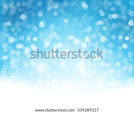 Abstract blue white background with blurry lights that give it a magical feeling as a backdrop for the Christmas season or any festive occasion. - stock vector