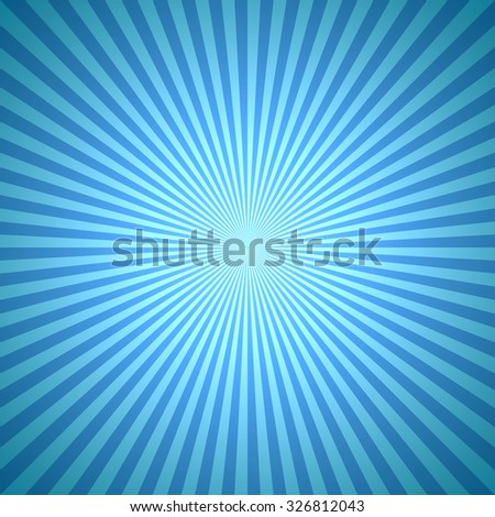 Abstract blue winter burst background. - stock vector