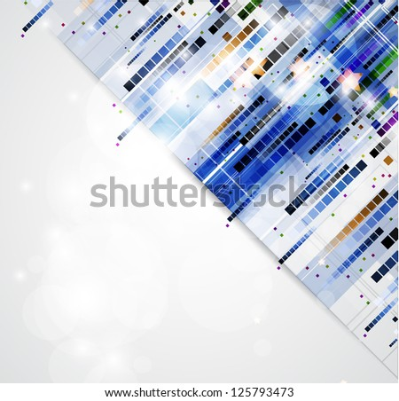 abstract blur computer technology business background - stock vector