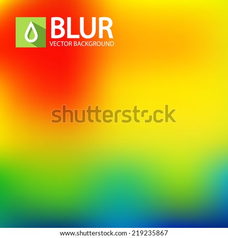 Abstract blur rainbow background. Vector illustration - stock vector