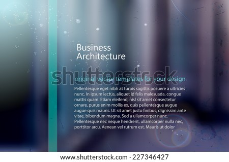 abstract blurred architectural background with natural lighting - stock vector