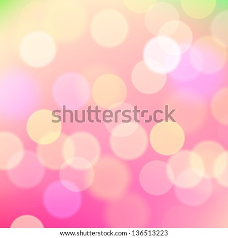 Abstract blurred pink background of holiday lights, vector illustration. - stock vector
