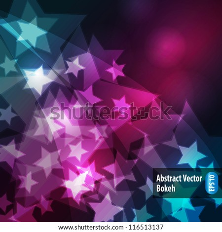 Abstract bokeh - stock vector