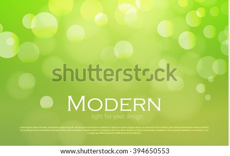 Abstract Bokeh Background. Colorful Design. Vector illustration. - stock vector