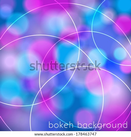 Abstract bokeh background with circles - stock vector