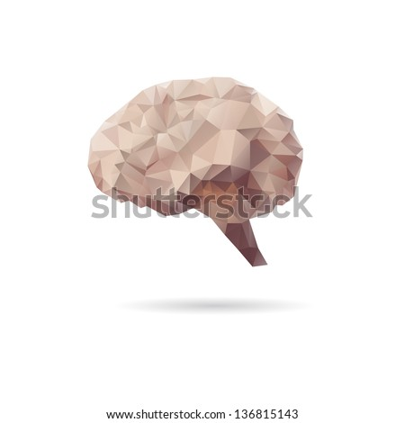 Abstract brain isolated on a white backgrounds - stock vector