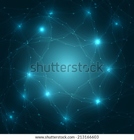 Abstract Brain Network Background | EPS10 Vector Illustration - stock vector