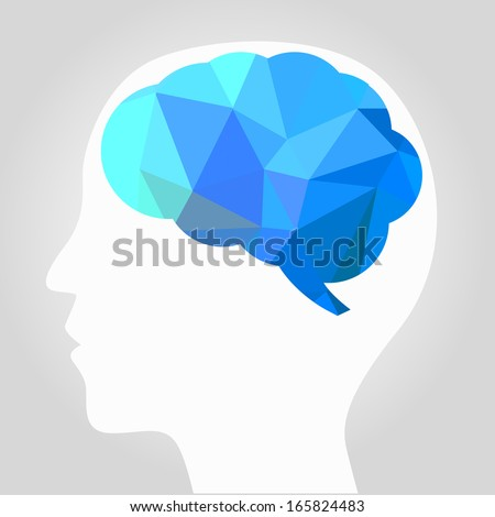 abstract brain vector - stock vector