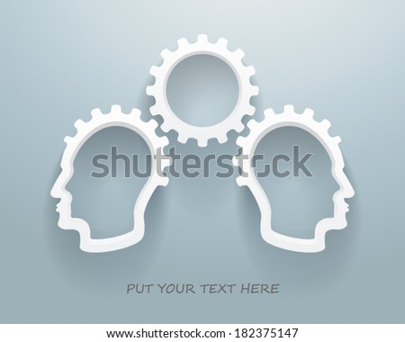 Abstract Brainstorming Workgroup - stock vector