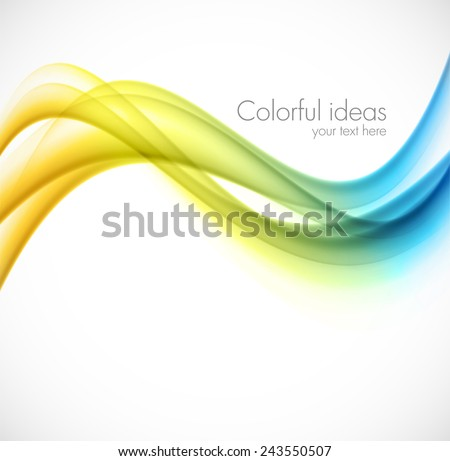 Abstract bright background colorful soft lines illustration - stock vector