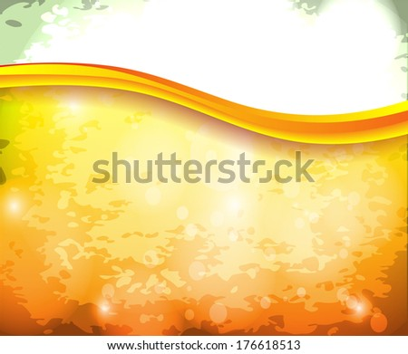 Abstract bright background in orange color - stock vector