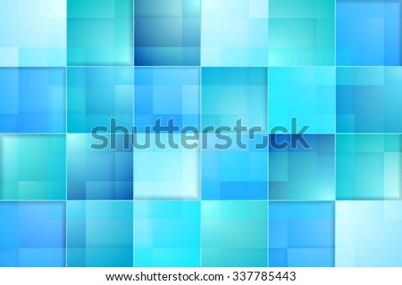 Abstract bright blue tech background. Vector graphic drawing - stock vector