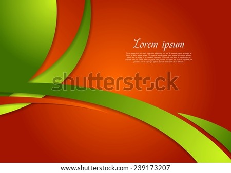 Abstract bright contrast wavy corporate background. Vector design - stock vector