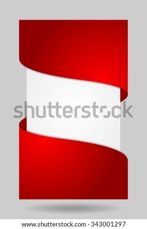 Abstract bright corporate flyer design. Vector background - stock vector