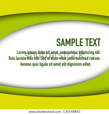 abstract bright green background - stock vector