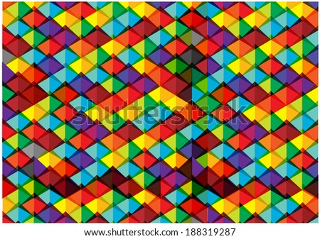 abstract bright pyramids background - stock vector