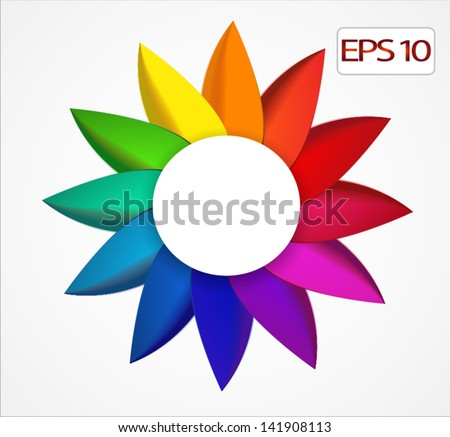 abstract bright rainbow floral background - stock vector