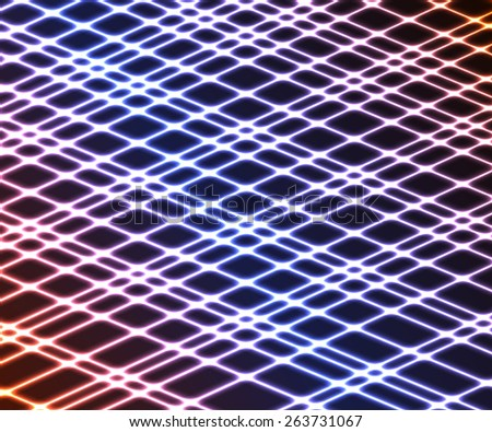 Abstract bright vector background. Colorful stripes on a dark background. Vector illustration for your business presentations - stock vector