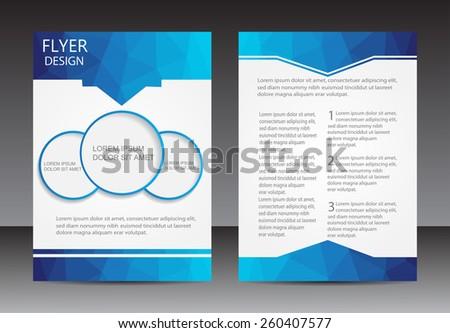 Abstract brochure design.Flyer design vector template. - stock vector