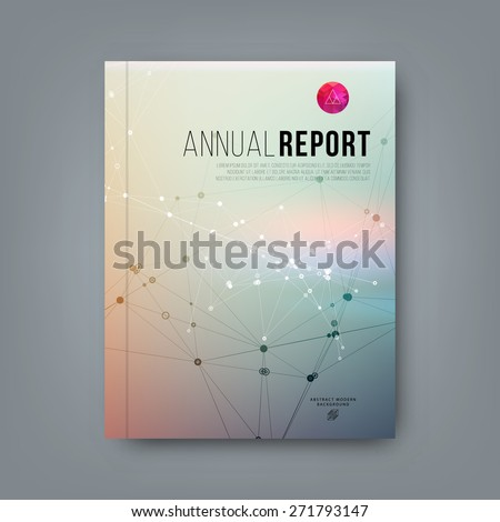 Abstract Brochure Design with Geometric Pattern. Social Network Concept. Modern Design for Banners, Cards, Posters, Annual Reports and Placards Designs. Vector Template. - stock vector