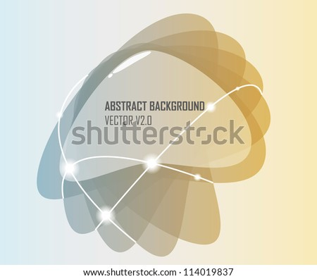 Abstract bubble background - vector illustration. Abstract glossy speech bubble vector background - stock vector