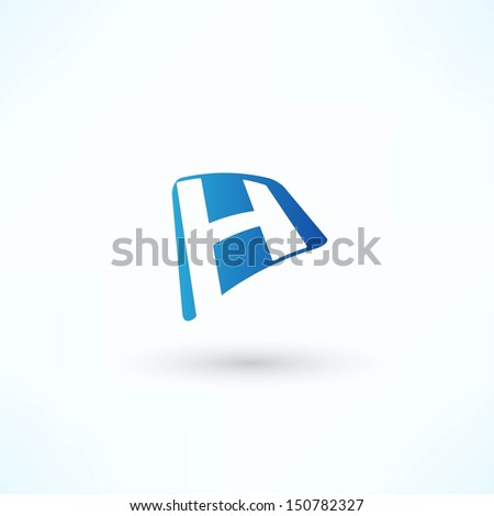 Abstract bubble icon based on the letter H - stock vector