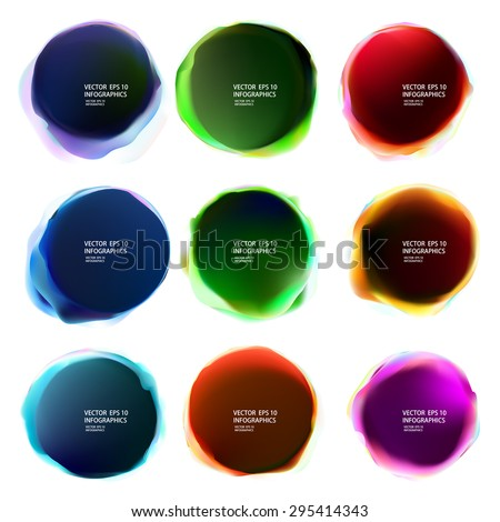 Abstract bubble vector background - stock vector