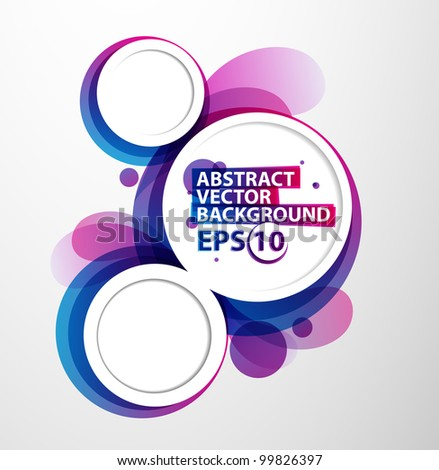Abstract bubble vector illustration background - stock vector