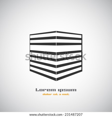 Abstract building silhouette. Real estate houses logos design template icon. Modern graphic concept element company style. Art vector illustration homes. Stylized contemporary emblem. EPS 10 - stock vector