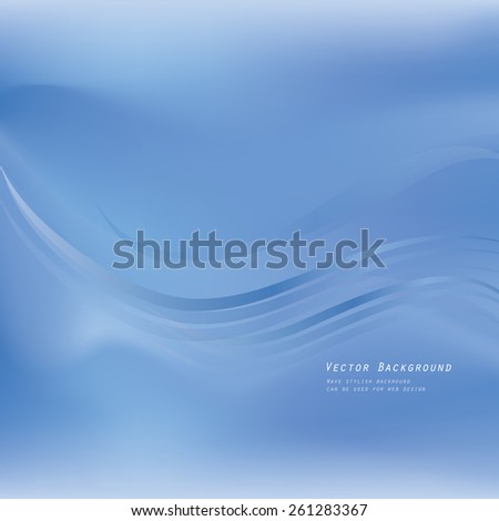 Abstract burred background. Wave pattern. - stock vector