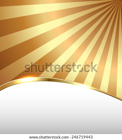 Abstract business background, golden lines, vector illustration. - stock vector