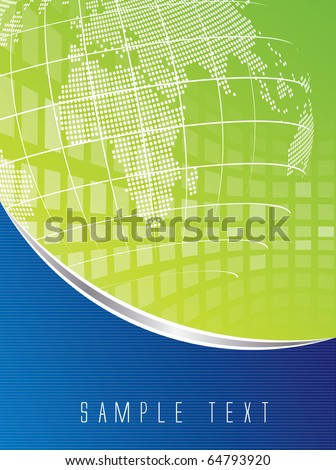 Abstract business background in editable vector format - stock vector