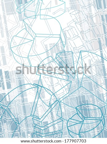 Abstract Business Background With Charts - stock vector