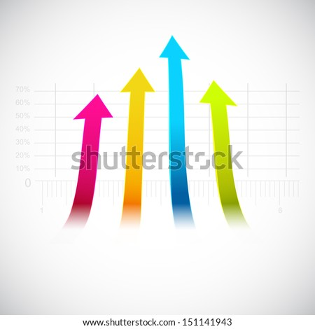 Abstract business background with upside arrow. - stock vector