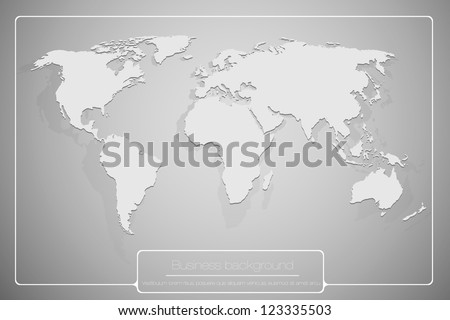 abstract business background with world map - stock vector