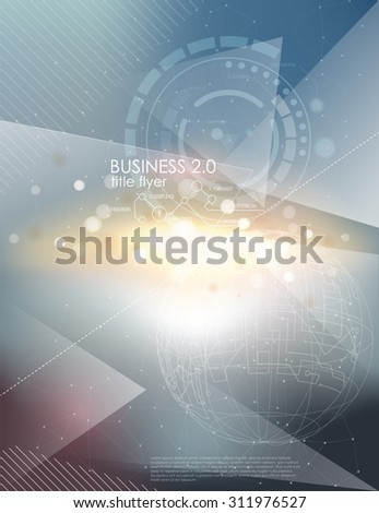 Abstract business brochure flyer design layout template, with bokhen blur background, vector illustration eps10. Vector Brochure Flyer design Layout template. infographic - stock vector