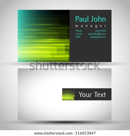 Abstract business-card front and back - stock vector