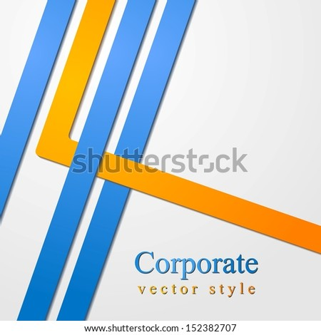 Abstract business corporate design. Vector illustration eps 10 - stock vector