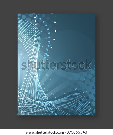 Abstract business flyer or cover design for your graphic project/Vector illustration.  - stock vector