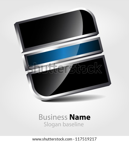 Abstract business icon - stock vector