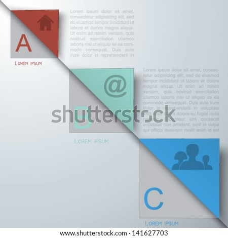 Abstract  business infographics template - stock vector