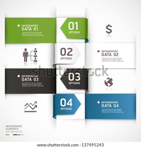 Abstract business infographics template. Vector illustration. can be used for workflow layout, diagram, number options, step up options, web design, infographics. - stock vector